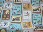 BAMBI AND FRIENDS - PATCH ON GREY - SPRINGS CREATIVE 100% cotton