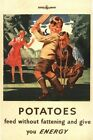World War Two Home Front Potatoes Nutrition Poster A3/A2 Print