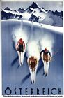 Vintage Skiing In Austria Tourism Poster A3/A2/A1 Print