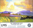 Vintage LMS Coronation Locomotive At Shap Fell Railway Poster A3/A2/A1 Print