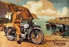 VINTAGE   1950'S TRIUMPH  T100  MOTORCYCLE  C.1957   ADVERT A3/A2 PRINT $21.23 USD on eBay