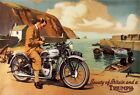 VINTAGE   1950'S TRIUMPH  T100  MOTORCYCLE  C.1957   ADVERT A3/A2 PRINT $20.56 USD on eBay