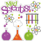 Mad Scientist SET of Scrapbook Science Embellishment Paper Piecing Cards