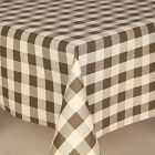 SLATE GREY WHITE PLAIN GINGHAM CHECKED PVC VINYL OIL TABLE CLOTH PROTECTOR COVER