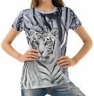 White Tiger Womens T-Shirt Tee wb1 acr40293