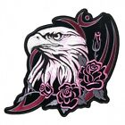 Ladies Embroidered Glitter Head Eagle Patch