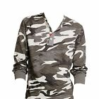 Ralph Lauren Denim & Supply Mens Slim Grey Camo USA Flag Henley Button Shirt New