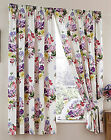Bouquet 3 Pass Printed Thermal Blackout Floral Curtains Designed By Wendy Tait
