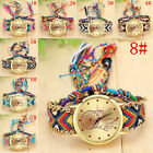 Hot Sale Womens Brecelet Watches Weave Band Colorful Analog Quartz Wrist Watches image