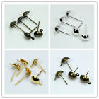 1000pcs 4mm/6mm/8mm,Silver/Bronze/gold plated Half Ball Stud Earring accessory