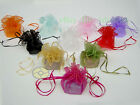 "25/50/100pcs Circle Diameter:10"" Organza Pouches Jewelry Wedding Favor Gift Bags"
