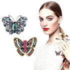 Fashion Women Jewelry Butterfly Gold/Silver Plated Crystal Rhinestone Brooch Pin