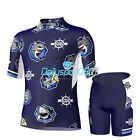 Boys Cycling Suits Cycling Jersey&4D Padded Shorts Children Bicycle Bike Sets DS