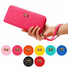 Womens Lady Zipper Leather Clutch Coin Phone Bag Long Purse Wallet Card Holder