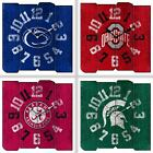 Choose Your NCAA Team Vintage Style Distressed Wood Square Clock by Imperial