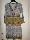 BNWT TALIA Multi Color Jersey Dress Size Medium Women's