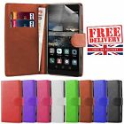 Stylish Huawei Smartphones Genuine Flip Book Wallet Case Cover Smooth PU Leather