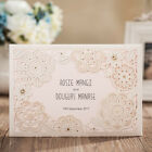 Classic White Laser Cut Flowers with RSVP Wedding Invitations Cards, CW6081