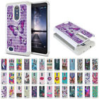 For ZTE Zmax Pro Carry Z981 MetroPCS Design Shock Proof Hybrid Bling Case Cover