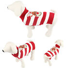 Cute pet dog winter sweater warm Striped knit crochet cat clothes for dog
