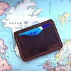Handcrafted Personalised Genuine Leather Minimalist Wallet Oyster Card Holder