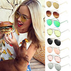 Women Twin Beams Beach Alloy Frame Glasses Transparent Oval Sunglasses Oversized