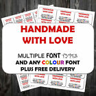 65 PERSONALISED STICKERS Labels | ANY COLOURS CUSTOM +P&P