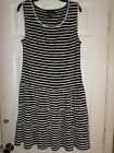 EUC  Max Studio Black/White Stripe Dress Size XL Women's