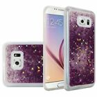 For Samsung Galaxy S6 Liquid Quicksand with Glitter Flexible Hybrid Case
