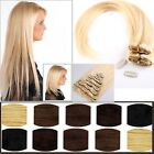 UK Blonde 8PCS 18Clips In Extensions FULL HEAD 100% Real Remy human hair JY512