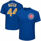 Chicago Cubs Majestic Cubs Gold Program Mens Name And Number  T-Shirt