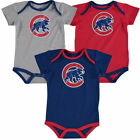 Chicago Cubs Majestic Infant Name & Number 3-Pack Creepers - Red