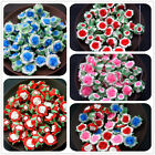 7x12MM DIY Jewelry Accessories Soft Rose Flowers Polymer Clay Beads 35pcs RT019