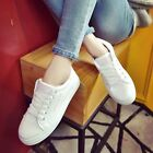 Fashion Womens Lace Up Flats Breathable Creepers Loafers Shoes Sneaker Canvas