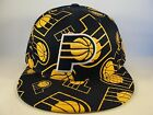 NBA Indiana Pacers Adidas Fitted Hat Cap Navy Gold