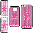 Pink Dallas Cowboys Plastic Hard Phone Case Cover For iPhone / Samsung