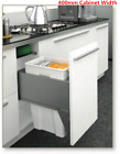 Kitchen Storage Pull out Waste Bin To Suit 300-400mm Cabinet Width 40KG Load