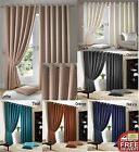Madison Modern Eyelet Top Curtains Fully Lined Tie Backs Included Many Colours!