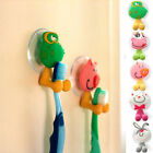 Cute Cartoon Toothbrush Holder Home Wall Bathroom Hanger Hook Sucker Cup 5 Color