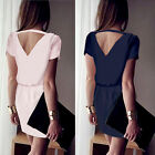 Women Lady Casual Chiffon Dresses Bandage Cocktail Summer Short Mini Party Dress