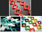 20MM Blue、 Red、Mixed Turquoise Plum flower Loose Beads Strand Gems 21PCS