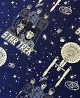 STAR TREK - CHARACTERS AND SHIP - ON BLUE - BY CAMELOT - 100% cotton fabric