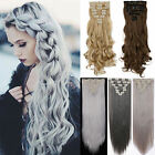 Real Natural Clip In Hair Extensions 8Pcs Full Head Hair Extentions As Human Fhn