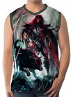 Spear Warrior Next To Black Wolf Men Vest Sleeveless Singlet Tank wa16 aao43839