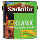 5lt Sadolin Classic Wood Protection Woodstain Mahogany Teak Pine Redwood Walnut