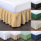 "1PC BEDDING DRESSING BED PLEATED SKIRT WITH OPEN CORNERS 14"" INCH DROP NEW STYLE image"