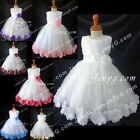 MFW7 Baby Girls Christening Baptism First Holy Communion Formal Prom Gown Dress
