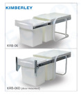 Kitchen Storage Kimberley Double Bin 15L*2 Plastic Waste Bin / Steel Frame