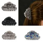 Large Metal Hair Clip Clamp Butterfly Claw Vintage Look Diamante Crystals 8cm
