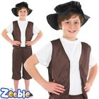 Boys Tudor Fancy Dress Costume 1920s School Historical Outfit Victorian Peasant